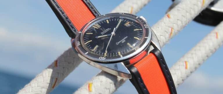 Omega Seamaster mit Segeltuch Uhrenarmband von Avel & Men