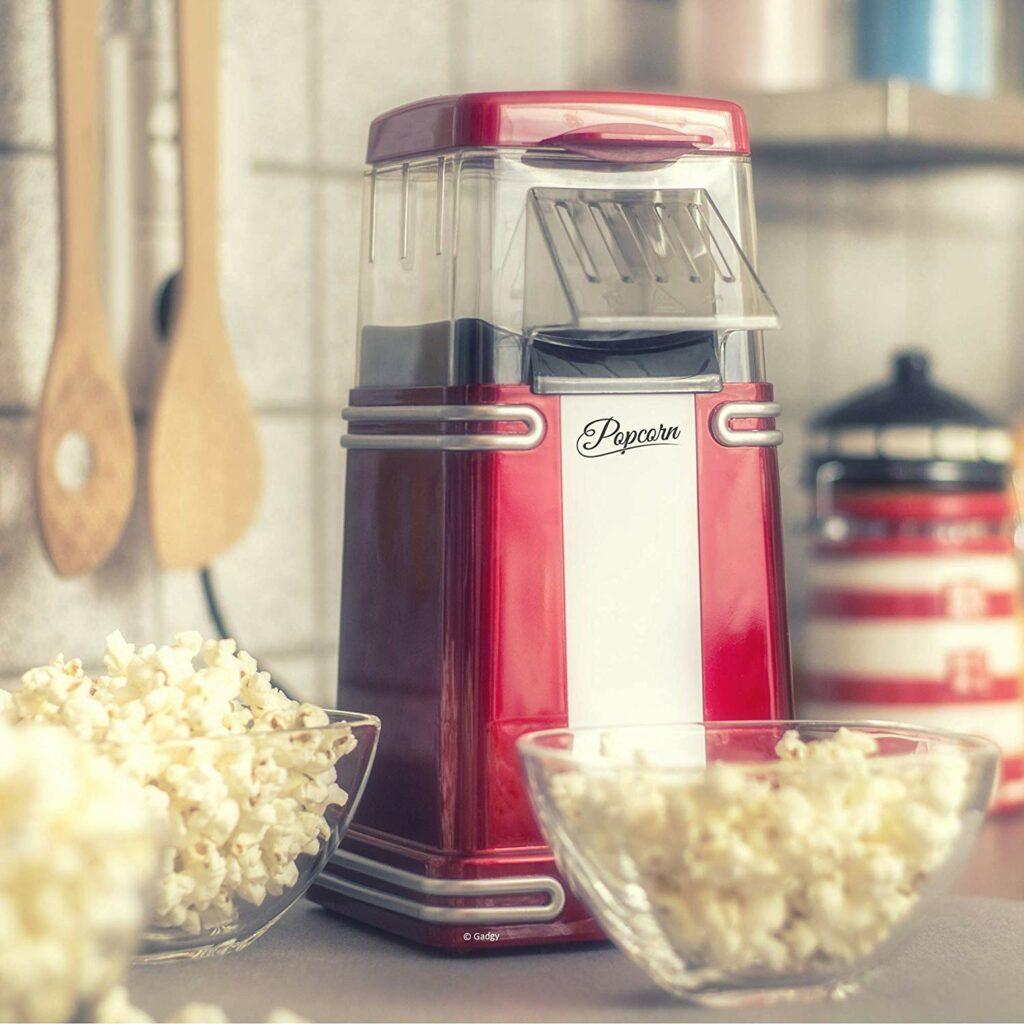 Gadgy Popcornmaschine Heissluft Retro Popcorn